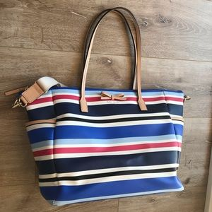 Kate spade leather diaper bag